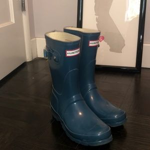 Turquoise Hunter Boots